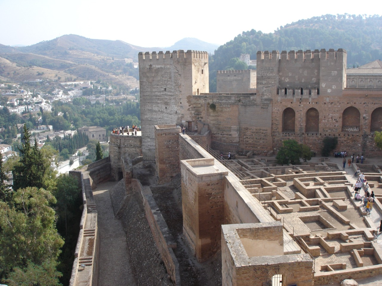 Alcazaba, the oldest part of Alhambra complex