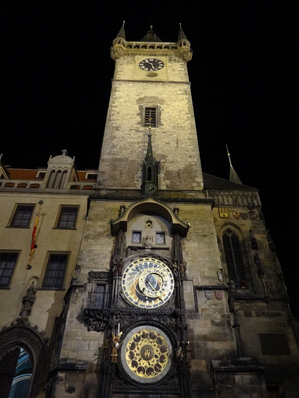 Astronomical Clock at night