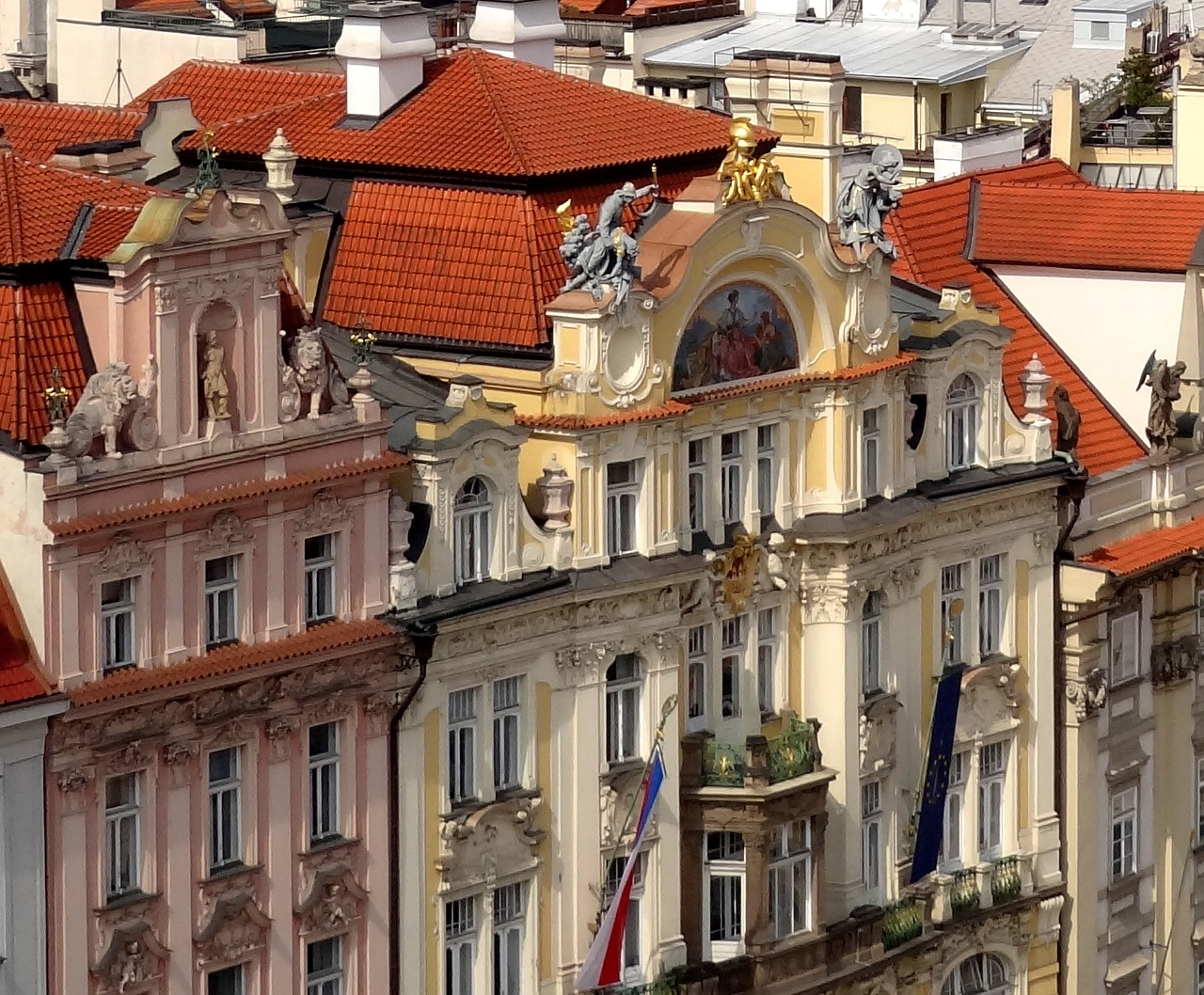 Prague facades old town