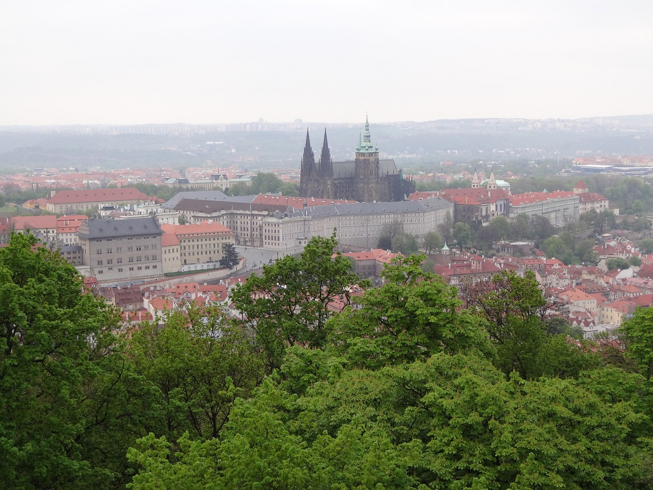St. Vitus Cathedral from Petrin Tower