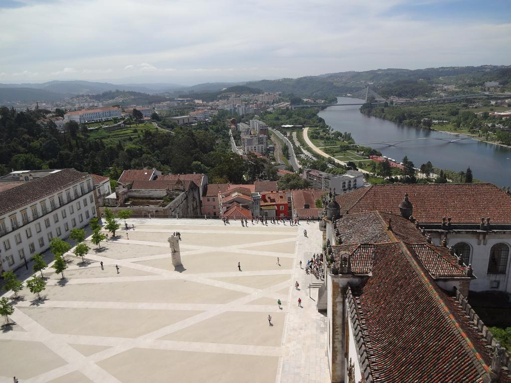 Coimbra University courtyard from the bell tower
