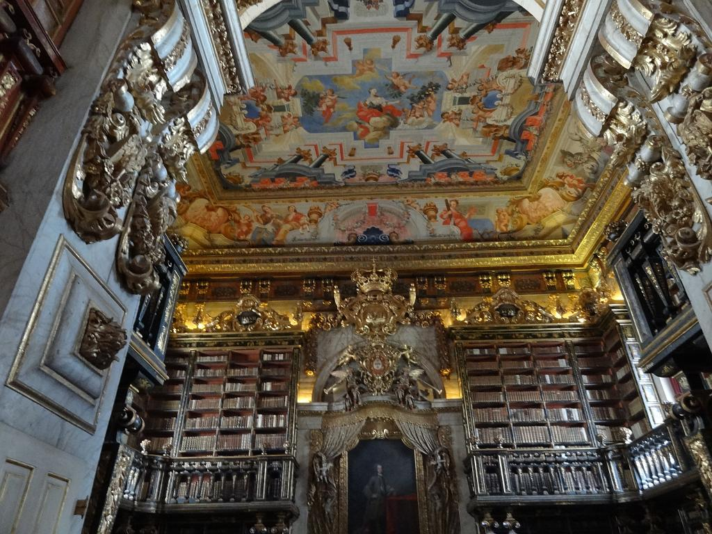 The main room in King John's Library in Coimbra
