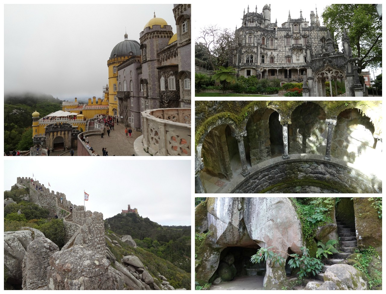 Pena Palace, Moorish Castle, Quinta da Regaleira in Sintra