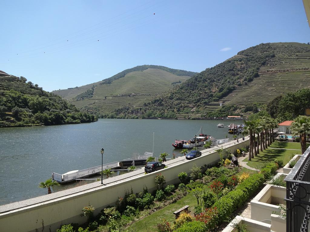 View of the Douro from room 115 balcony at Vintage House Hotel