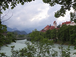 View of Fussen from the Lech river