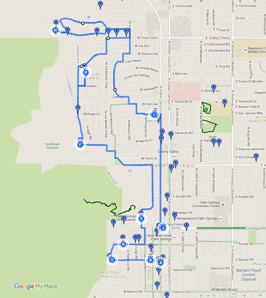 Modern Tour Bike Route