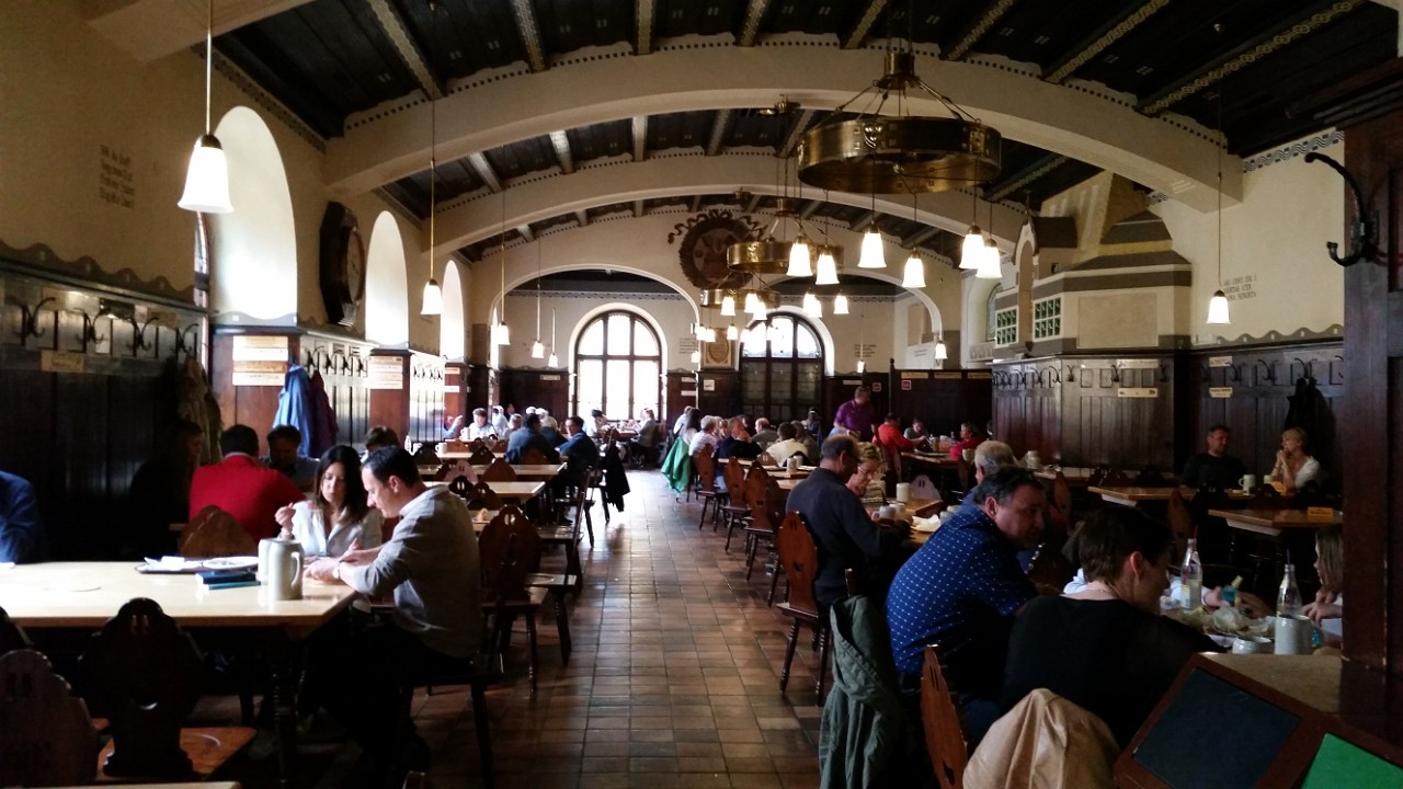 Augustiner Brauerei - beer hall - great stop after that stroll across Monchsberg