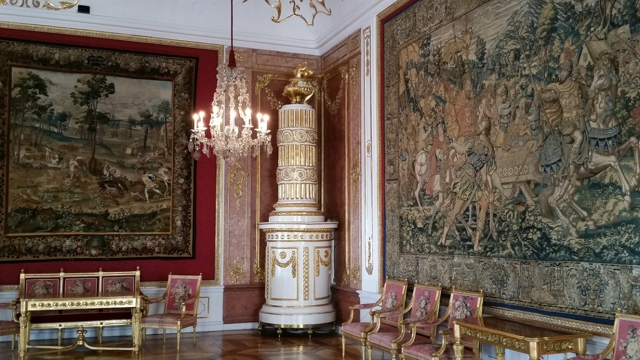 One of the sumptious rooms in the Residenz - all have fabulous ceramic heaters