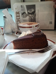 Sacher cafe for Sacher-Torte and Cappuccino
