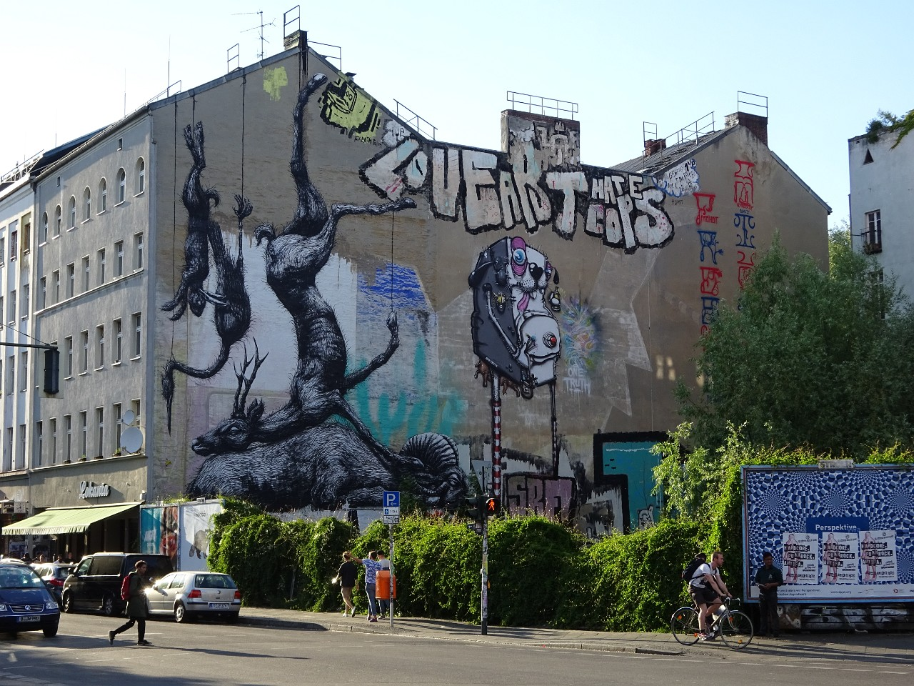 Hanging Dead Animals by ROA