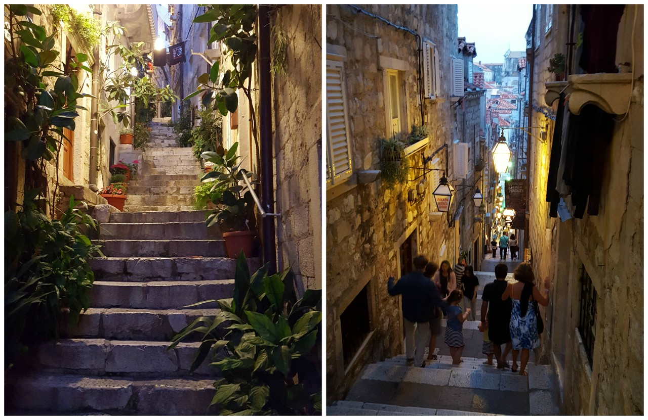 Dubrovnik streets at night