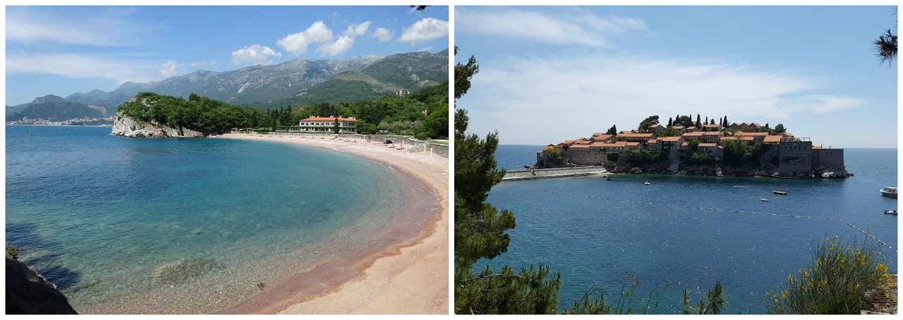 Kings Beach and Sveti Stefan