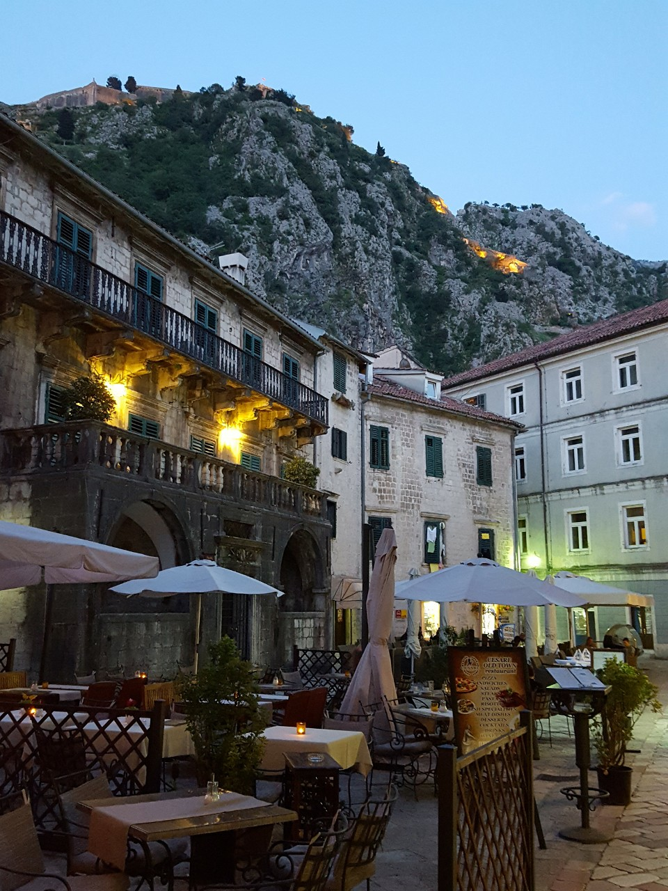 Kotor Trg od Brasna square with 17th century Pima Palace