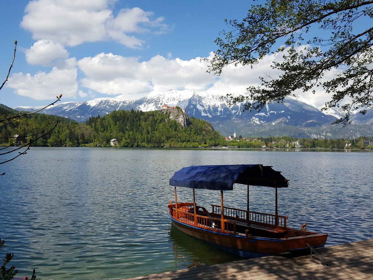 Lake Bled typical Pletna boat