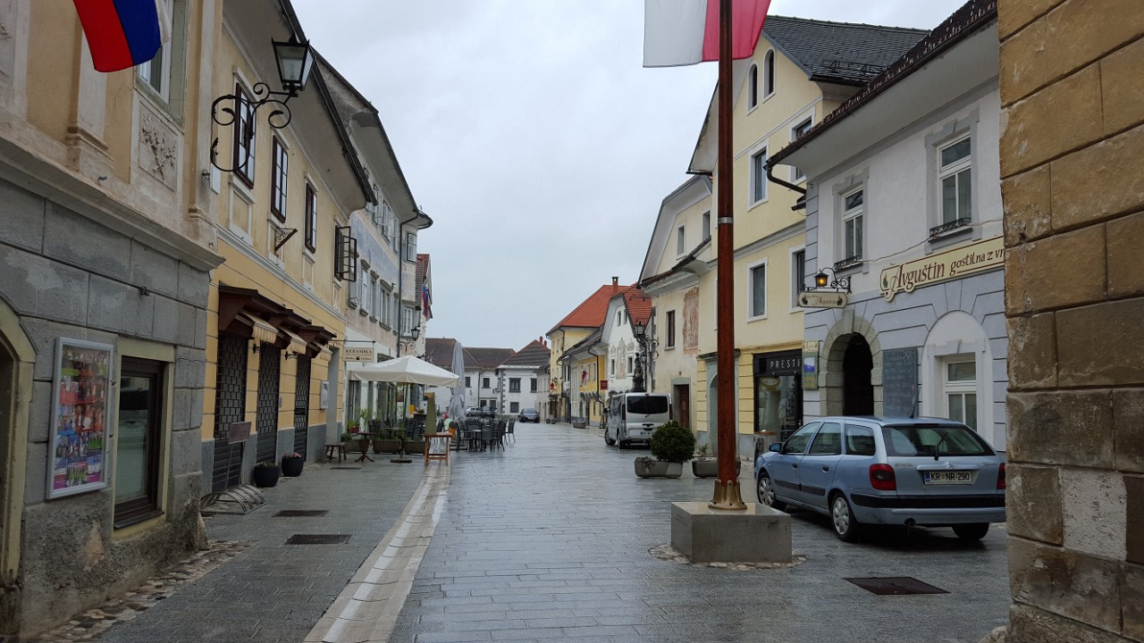 Radovljica long main square