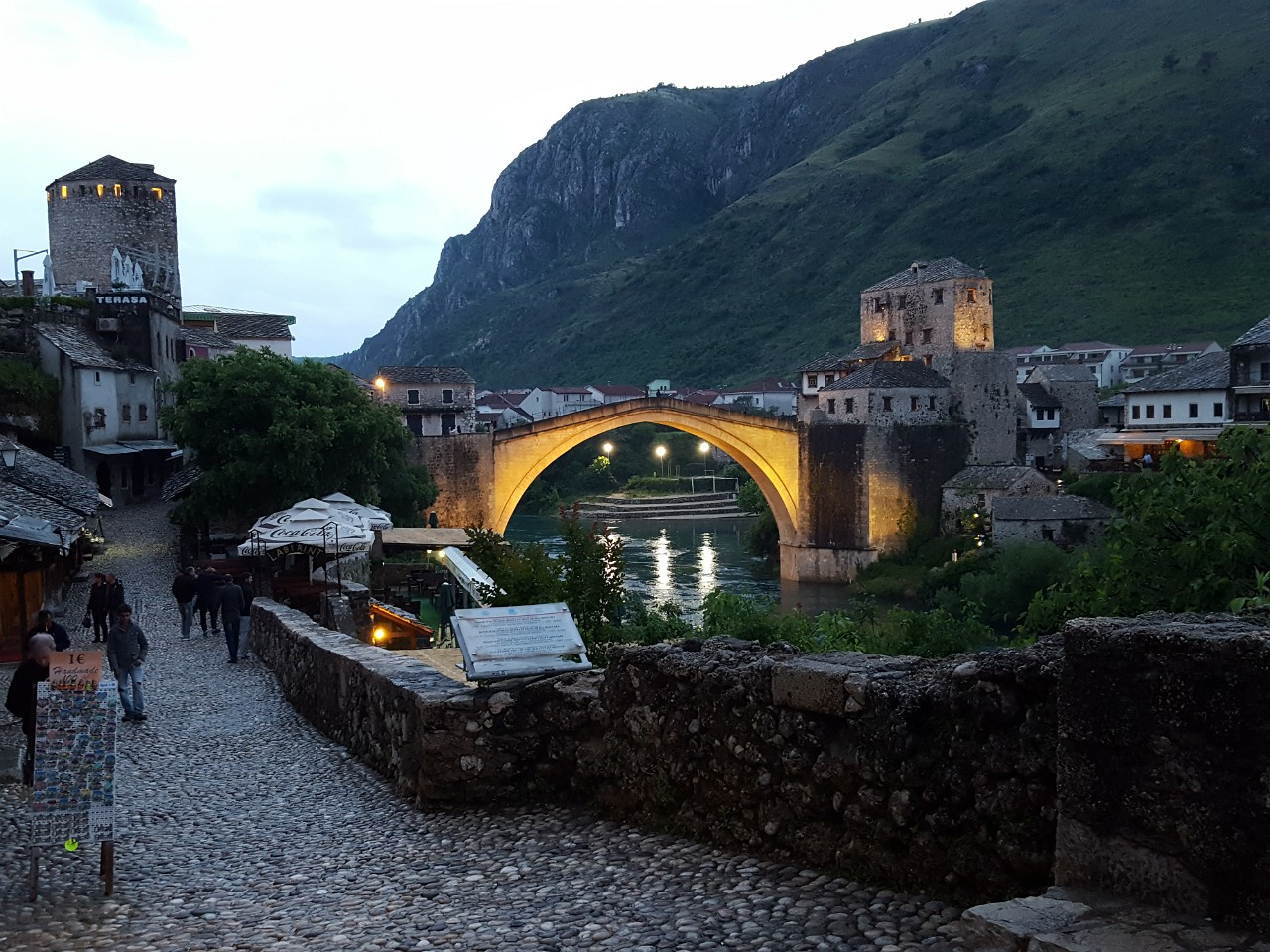 Old Bridge in Mostar from Coppersmith's Street