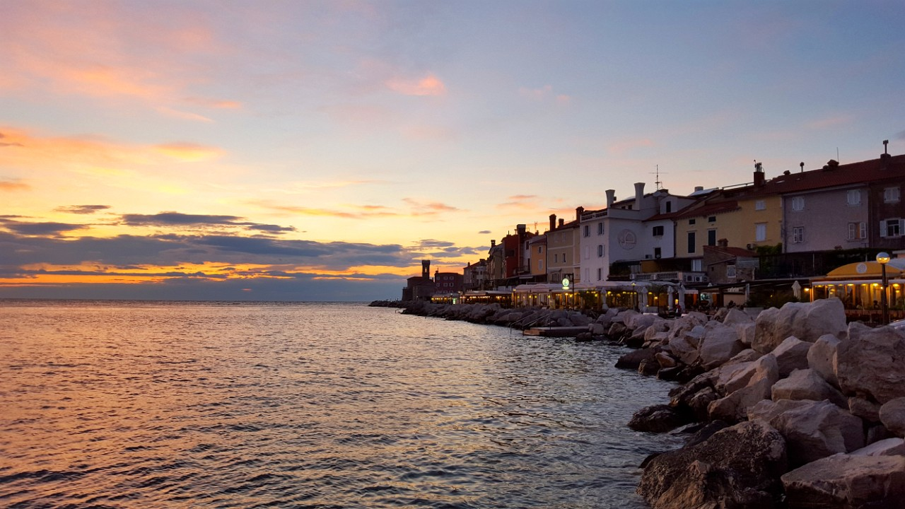 Sunset in Piran