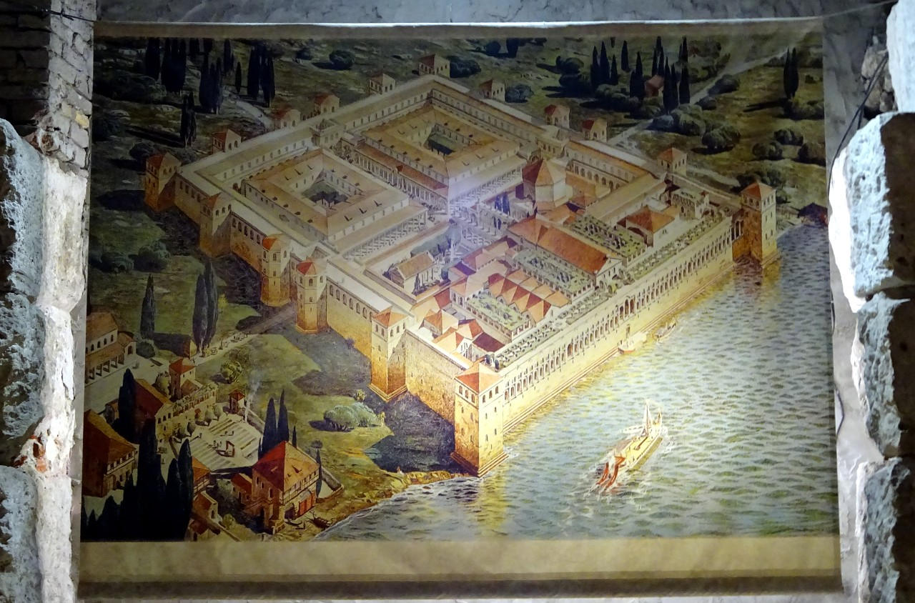 Depiction of Diocletian Palace