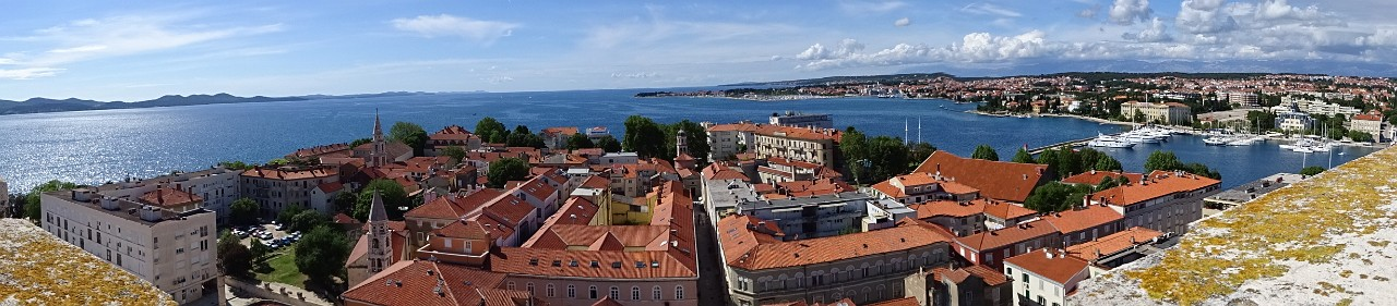 Zadar pano view from the Bell Tower