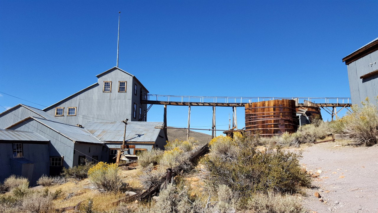 Bodie Stamp Mill ore entry