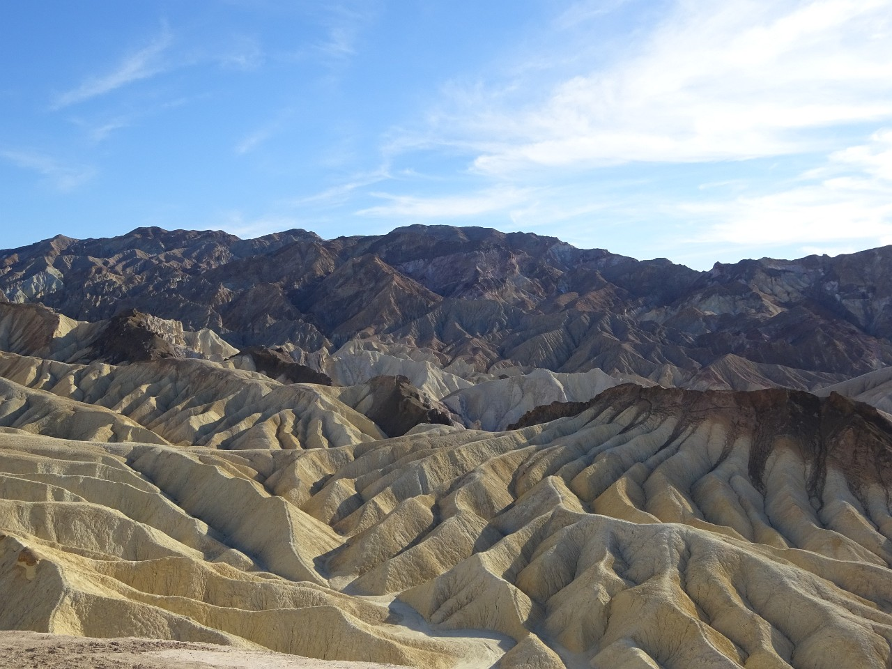 Zabriskie point volcanic formation