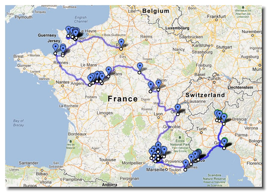 28 Days Touring Around France rebeccasnydercom