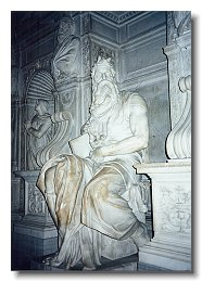 Moses by Michelangelo in San Pietro in Vincoli