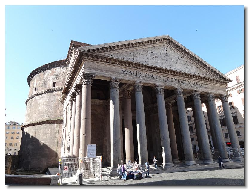 The Pantheon is located in Rome, Italy. It is one of the ...   Pantheon Dome Exterior