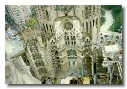Sagrada Familia in 1996