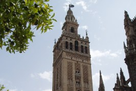 The Giralda from the Streets in Seville